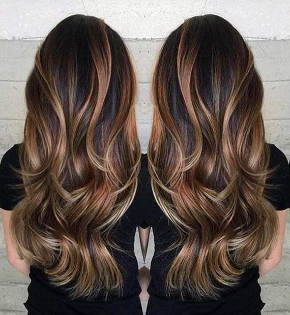 Long Layered Hairstyles choppy layers on long hair Long Layered Haircut With A Touch Of Balayage