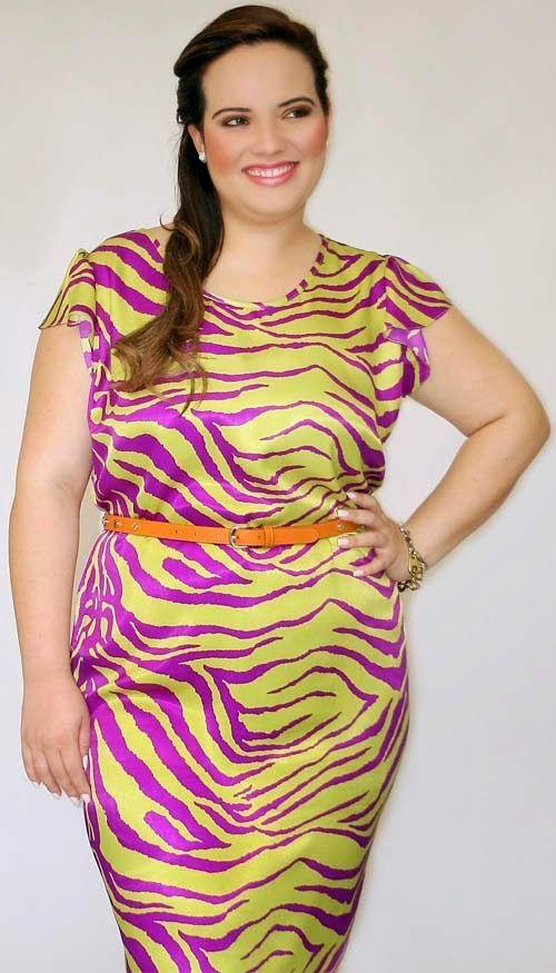 Grandes Mulheres Bazar - GMB - Bazar e Brechó On Line!: Vestido Plus Size Tigrado!(Sob encomenda)