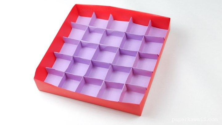 25 Section Origami Box Divider Instructions
