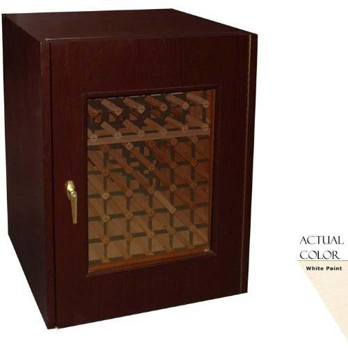 Vinotemp Vino-114g-w 80 Bottle Wine Cellar - Glass Doors / White Cabinet by Vinotemp. $2499.00. Vinotemp VINO-114G-W 80 Bottle Wine Cellar - Glass Doors / White Cabinet. VINO-114G-W. Wine Cellars. Simple and classic, this Vinotemp Wine Cellar features one thermal, double-paned glass door and a high quality white oak exterior. The wine mate self contained cooling system ensures proper circulation while your wine is stored safely away. Digital temperature control makes t...