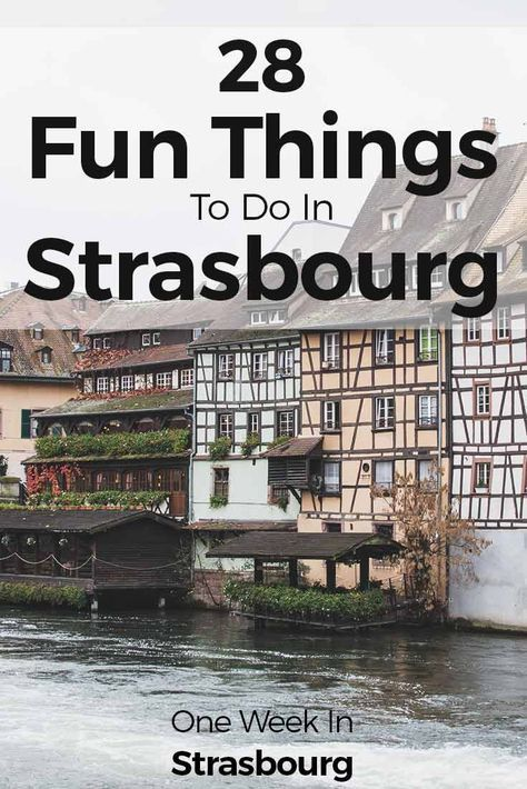 Strasbourg is one of the hidden gems in Europe. Strolling around the streets is amazing not only because the Alsace houses are so pretty, but also because there are so many things to do in this city. With an easy-going flair around the streets and plenty of bars and restaurants, we just wanted to summarize 28 things to do in Strasbourg. Check them out at one-week-in.com/...