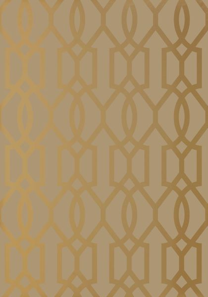 DOWNING GATE, Metallic Gold on Bark, T10046, Collection Neutral Resource from Thibaut