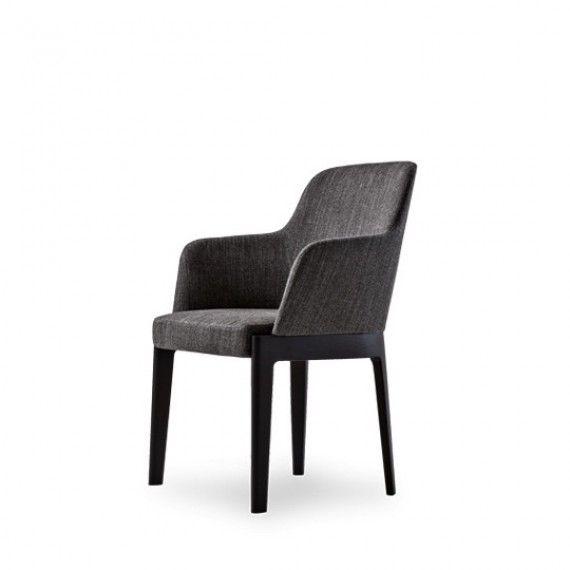 Chaise CHELSEA avec accoudoirs - Molteni