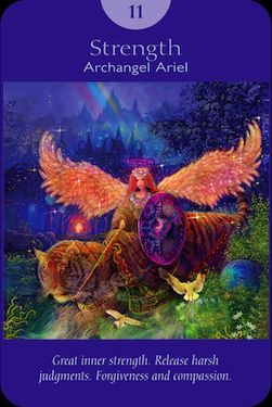 Angel from the Angel Tarot Deck by Radleigh Valentine and Doreen Virtue