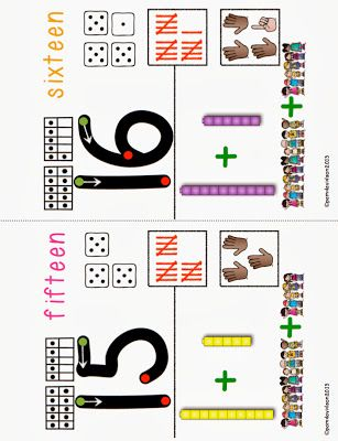 Number Sense Anchor Charts for Little Learners (11-20) or make pages for a class book.