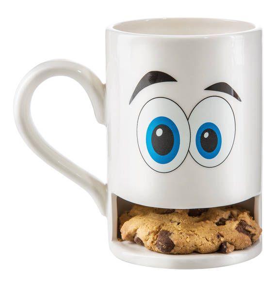 DONKEY Mug Monster  weiss  Keks-Becher mit Halterung bunt (2)