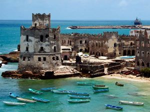 The crumbling Italian lighthouse perched on the edge of Mogadishu's Old Harbor was built over a century ago, and abandoned some 20 years ago as trade dried up to the failed state of Somalia.
