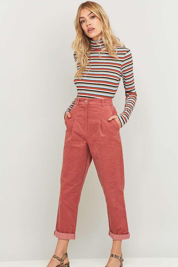 Urban Renewal Vintage Remnants - Pantalon en velours côtelé rose