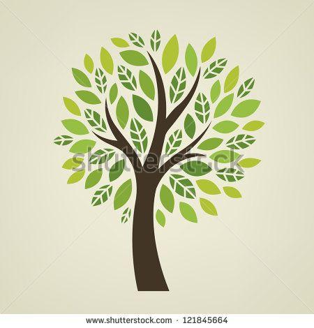 vettore albero stilizzato