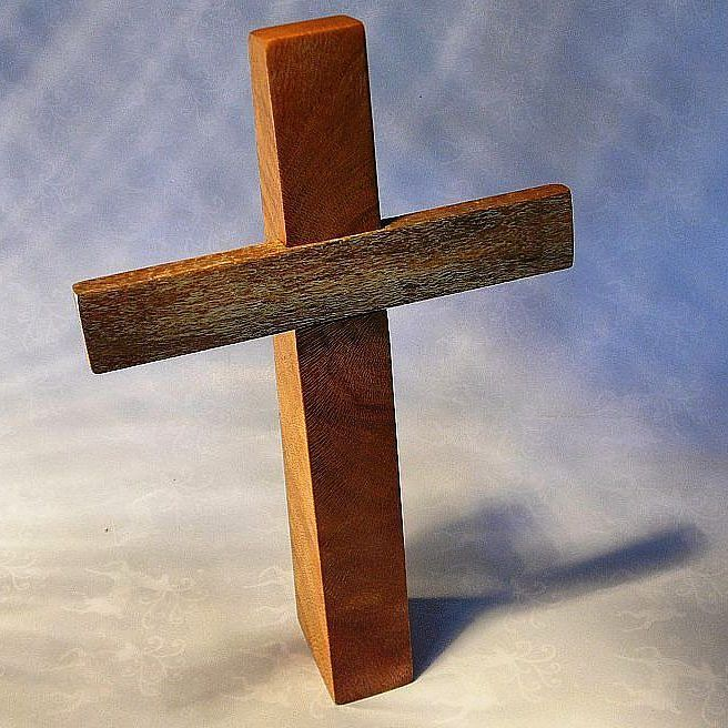 Freestanding Memorial cross made from Rescued Silky Oak timber