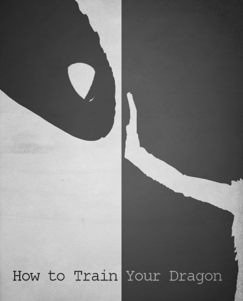 How to Train your Dragon - Minimalist Poster