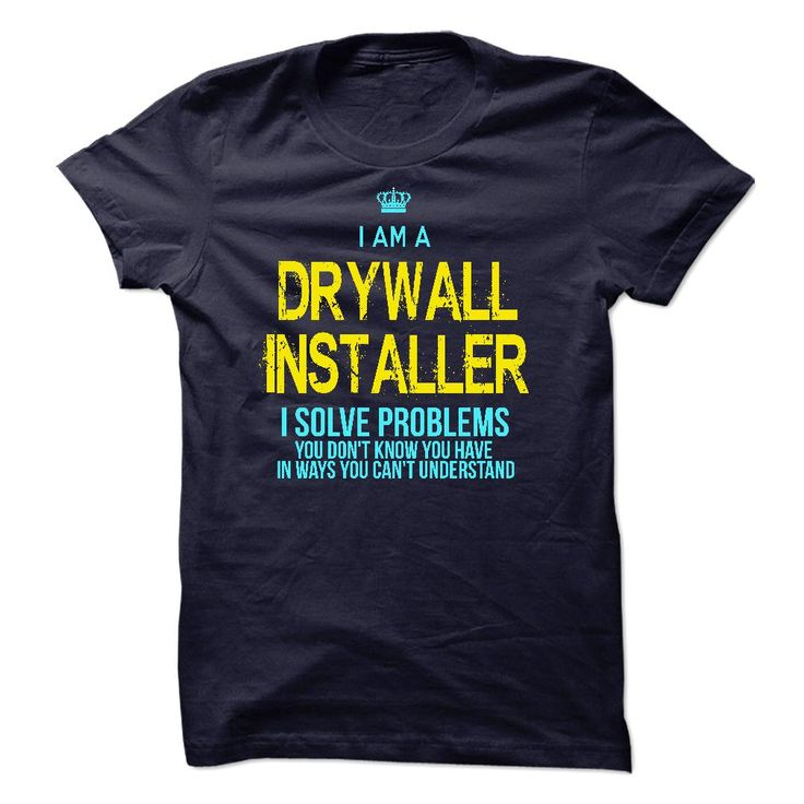 I'm A DRYWALL INSTALLER T-Shirts, Hoodies. CHECK PRICE ==► https://www.sunfrog.com/LifeStyle/Im-AAn-DRYWALL-INSTALLER-29842120-Guys.html?id=41382