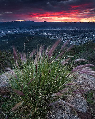 Sunset from near the top of Cowles Mountain. Mission Trails Regional Park, San Diego.