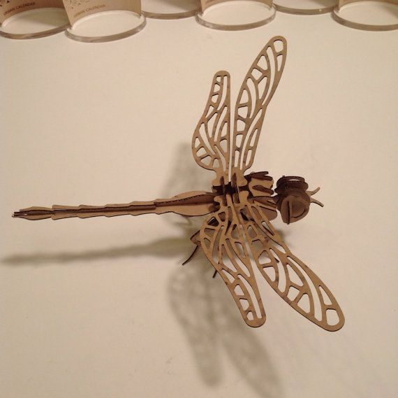3D puzzle Dragon Fly by feYerwerks on Etsy, $5.00