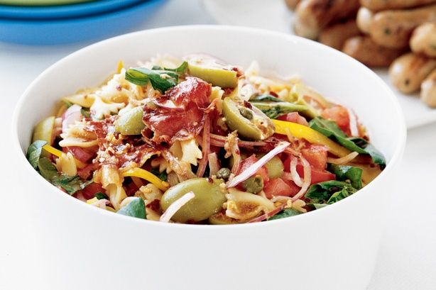 Bring some Mediterranean flare to the dinner table with this tasty pasta salad.