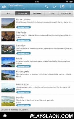Brazil Travel Guide By Triposo  Android App - playslack.com , Features of Triposo's guide to Brazil:★ Suggestions of what's interesting to see and do in Brazil, depending on time, weather and your location;★ A detailed sights section with all the monuments of São Paulo, Rio de Janeiro, Salvador, Curitiba;★ Eating out section with the best restaurants in São Paulo, Rio de Janeiro, Salvador, Curitiba;★ Discover the nightlife of Brazil! Bars, pubs & disco's in São Paulo, Rio de Janeiro…