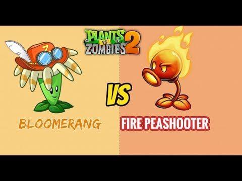 Plants vs Zombies 2 - BLOOMERANG VS FIRE PEASHOOTER
