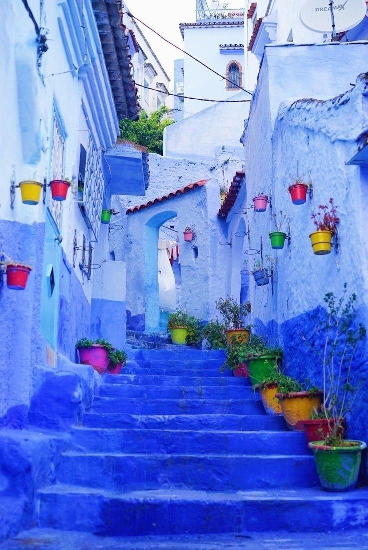 聖域だった、青と白の物語のような街の中【モロッコ・シャウエン】|伊佐 知美|note