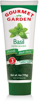Gourmet Garden Basil in a TUBE... herbs that will last 3 months in the ref.