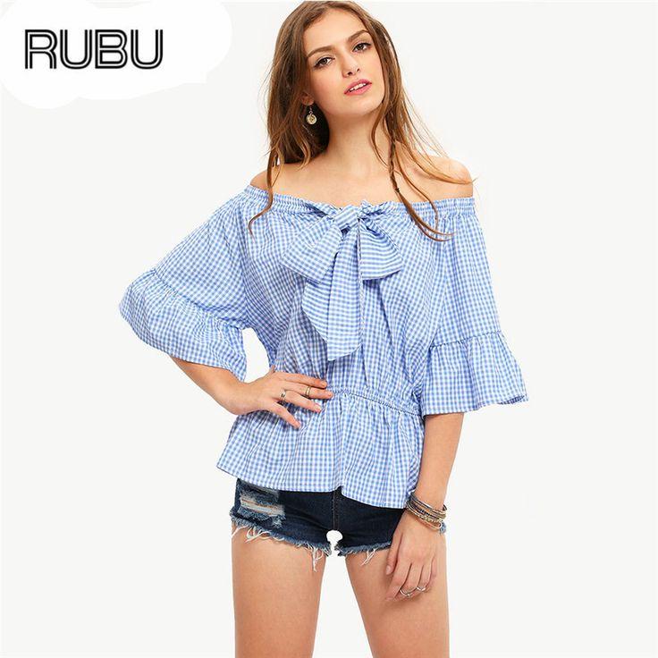 Click to Buy << RUBU Womens Stripe Shirt 2017 New Arrival Fashion Off. >>