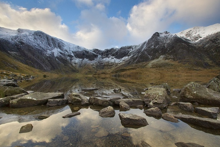 Kris Williams landscape photography.  'Frosted Peaks' - Cwm Idwal, Snowdonia