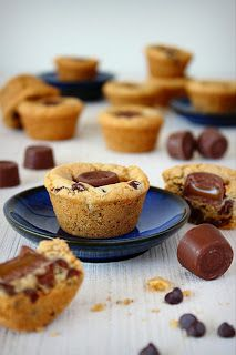 Chocolate chip cookie cups met Rolo's
