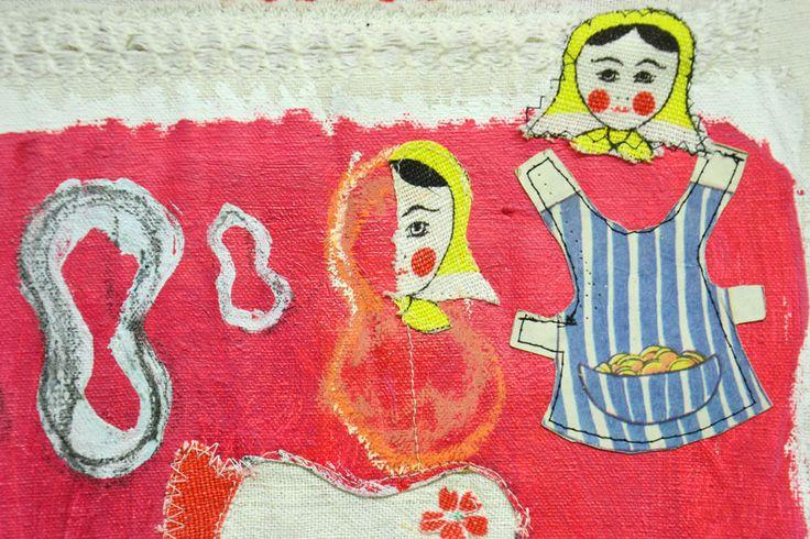 My lovely regional dolls, detail, mixed media, 2015, Annukka Mikkola