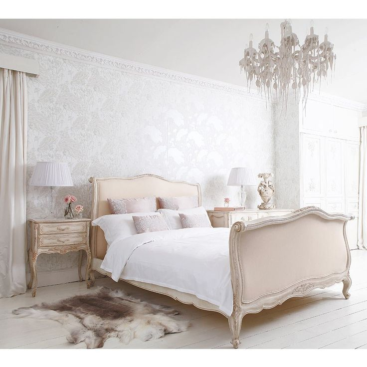 Delphine French Upholstered Bed | Luxury Bed