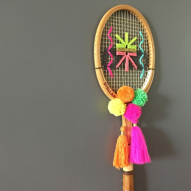 Woven tennis racquet. Olive And The Boy on Etsy
