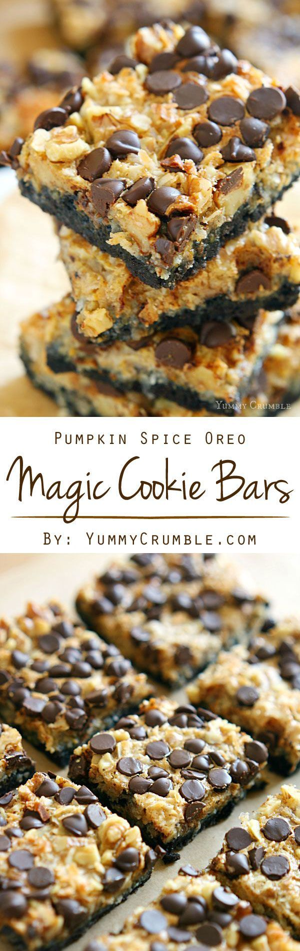 ... pumpkin spiced chewy filling, these Pumpkin Spice Oreo Cookie Bars