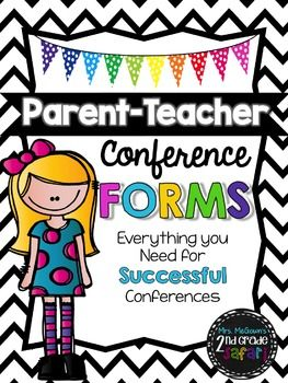 I have jazzed up my parent/teacher conference forms and included them in this bundle. This bundle includes 2 different conference forms to be used during your conference with parents. These forms are easy to use and provide a great layout to discuss the student's strengths, goals, areas of concern, and plan of action.