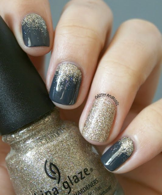 Goldregen – – Nail Art – #Gold Regen #Nagel Design