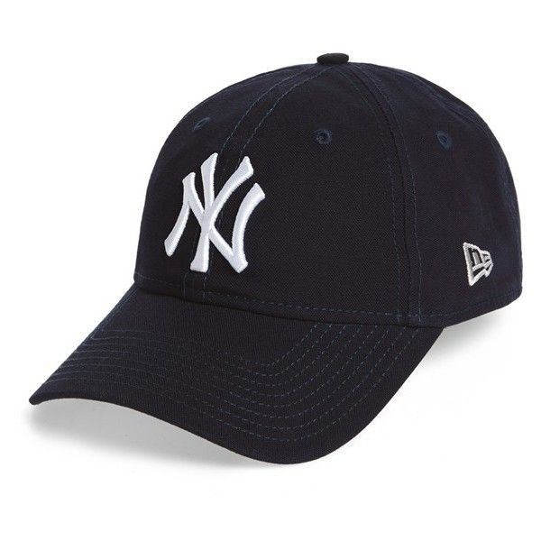 New Era Cap 'Core Shore - New York Yankees' Baseball Cap (£16) ❤ liked on Polyvore featuring men's fashion, men's accessories, men's hats, navy and mens caps and hats