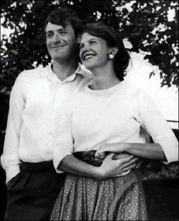 Poet/author Sylvia Plath and future Poet Laureate Ted Hughes, 1956. Plath committed suicide at age 30 and their son committed suicide at age 47.