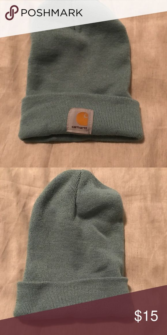 Cozy Carhartt beanie Carhartt hat in a pretty teal color! Love this hat!! Also on merc. Carhartt Accessories Hats
