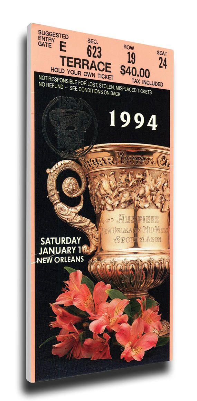 1994 Sugar Bowl Canvas Mega Ticket - Florida Gators