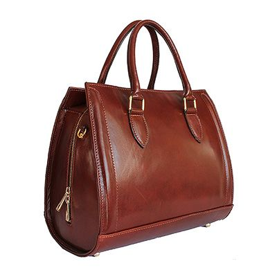 Vintage Gladstone Style Brown Leather Handbag - Down to £49.99 from £99.99