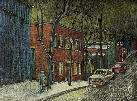 Reb Frost - Street Scene in Pointe St. Charles