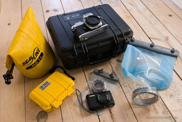 Get an overview about your choices for a waterproof camera case for kayaking and canoeing. Learn about the pros and cons of hard cases and soft cases.