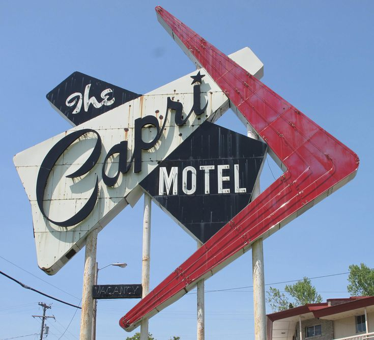 A great mid-century motel sign in Joplin Missouri.