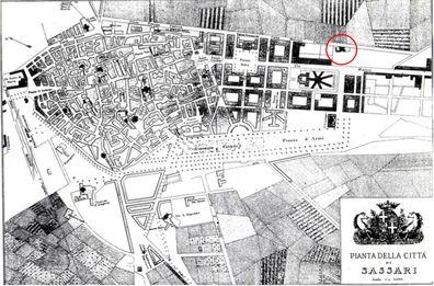 Il Museo prima del Museo. Il Museo Sanna sorge sopra la casa di San Sebastiano, fondata nel 1597 come primo convento dei padri Domenicani a Sassari.  Sassari nel 1898, Gustavo Sfraforello