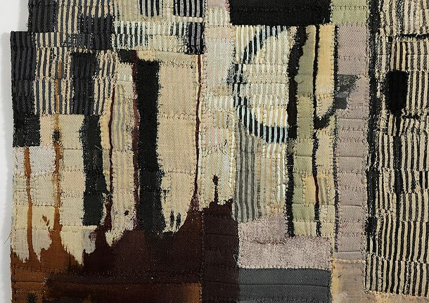 Echo Cloth detail by Matthew Harris - Dyed, cut and hand stitched cloth