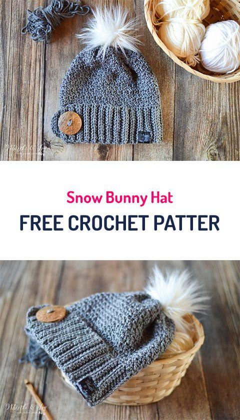 Snow Bunny Hat Free Crochet Pattern #crochet #yarn #style #fashion #crafts