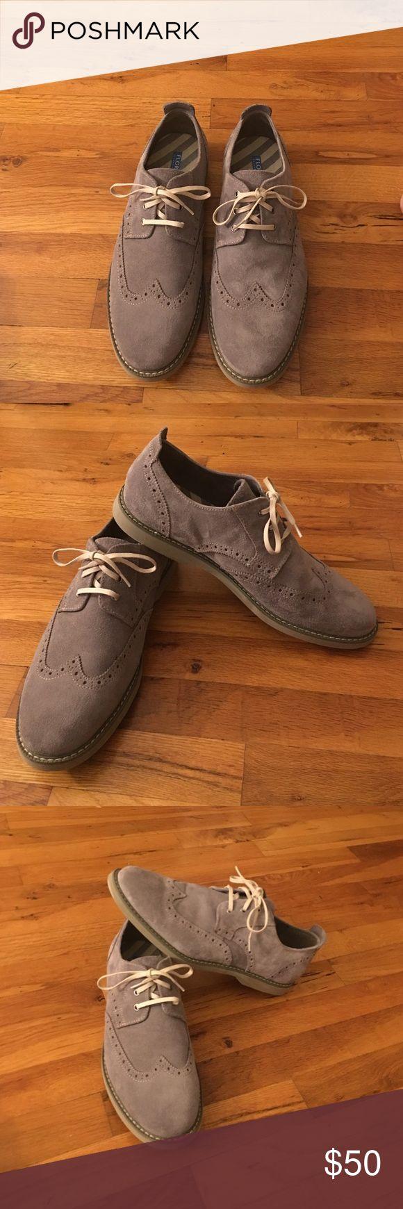 Men's suede shoes! Florsheim men's gray suede shoes. Worn twice. In perfect condition Florsheim Shoes Oxfords & Derbys