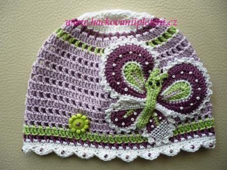 #freecrochetpattern #crochetThis pattern is written in Czech but it has lots of pictures that will help you get the idea of what she's doing.http://www.hackovaniipleteni.cz/products/jarni-motylkova-cepicka-/PIN IT https://www.pinterest.com/pin/159666749265453056/