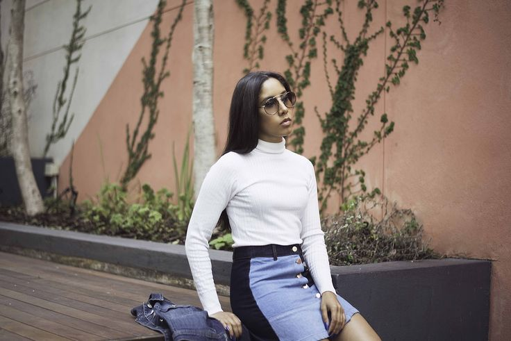 Interesting denim.  #fashion #denim #denimskirt #poloneck #winterfashion #autumnfashion #lookbook #lookpost #blogger #fashionblogger #style #trutrustyle #capetown #southafrica #africa #africanstyle #prada #sunglasses #pradashades #streetstyle #casual