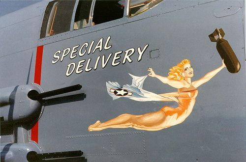 A special delivery via noseart....