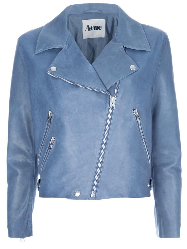 Biker Jacket by Acne....Color, I am in love.. want Women