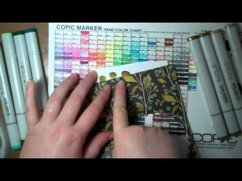 match copic colors with the colors in the papers - video tutorial - bjl