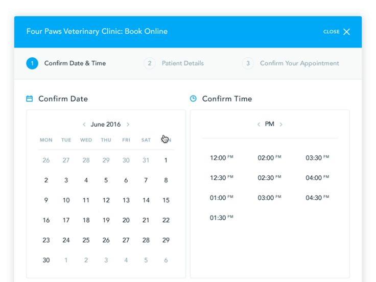 TopVet | Confirm Date by Eleken. #Design Popular #Dribbble #shots
